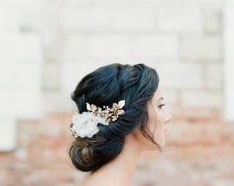 Bridal Headpiece, Wedding Headpiece, Crystal Hair Comb, Bridal Hair Piece, Floral Hair Comb, Beaded Headpiece, Hair Accessories - Style 411