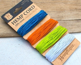 Colored Hemp Twine, 20lb, Hemp 1mm,  Hemp Crafters Cord,  Hemp String -CH57