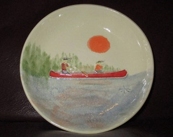 Handmade Ceramic trinket dish - Canoe!                                      227
