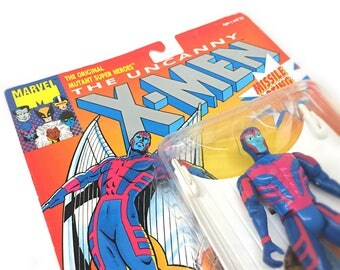 Marvel Comics X-Men Archangel Action Figure, 1993 Toy Biz, Uncanny X-Men Toy in Original Packaging - Marvel Comics Toy, X Men Mutant