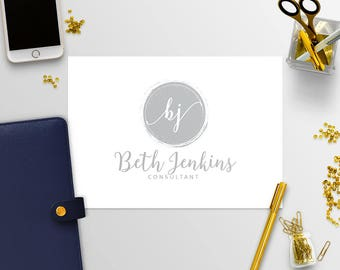 Premade Logo Kit - Business Logo - Logo Design - Photography Logo - Blog Logo - Blog Logo Design - Blue Logo - 4-17