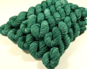 Sock Yarn Mini Skeins - Hand Dyed Yarn - Sock Weight 4 Ply Superwash Merino Wool Yarn - Bluegrass - Fingering Knitting Yarn, Green Tonal
