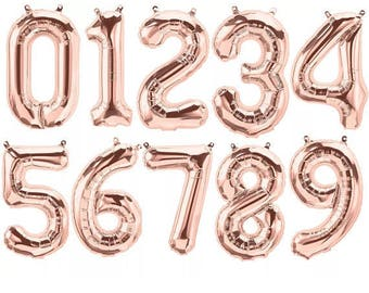 Rose Gold Numbers, Rose Gold Number Balloons, Rose Gold 2017 Balloons, Rose Gold Balloons, Rose Gold Numbers, Rose Gold 2017, Rose Gold 21