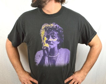 Vintage 90s Rod Stewart Unplugged Rock Tee Shirt Tshirt
