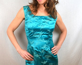 Vintage 1950s Amazing Brocade Silk Eastern Cocktail Dress