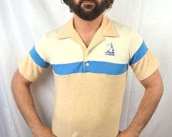 Vintage 1970s 80s Terry Cloth Shirt
