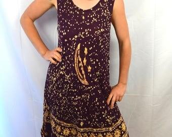 Vintage 90s Batik Summer Dress
