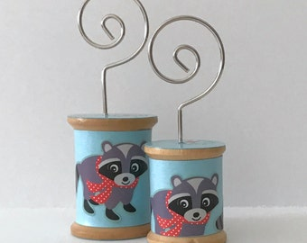 Racoon on Blue - Cool Spools