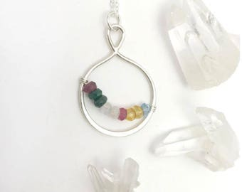 Nana Necklace with Birthstones - Grandma Birthstone Necklace - Mothers Day Gift for Grandma - Grandmother Necklace - Custom Grandma Gift
