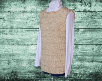 Knit Sweater Pattern, Knitted Vest Pattern, Knit Tunic Patterns, Knitting Pattern for Sweater, Women's Sweater Pattern