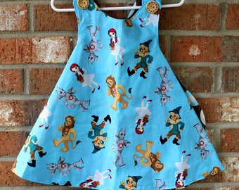 Wizard of Oz Dorothy Toto Cowardly Lion Scare Crow Girl's Toddler Tunic Size 12 Months to 2T Ready to Ship