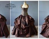custom listing for Tara-steampunk wedding dress-the secret boutique