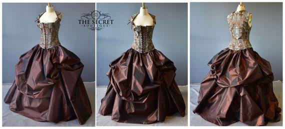 Steampunk Renaissance Wedding Dress