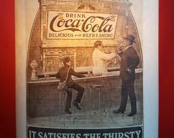 Lampshade Coca Cola Men at the Bar