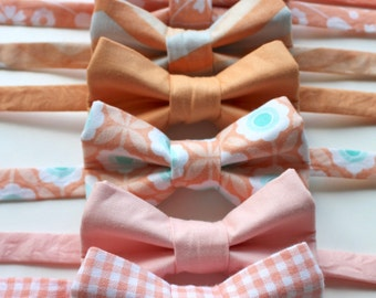 Little and Big Guy BOW TIE - Spring Easter - PEACH Collection - (Newborn-Adult) - Baby Boy Toddler Teen Man