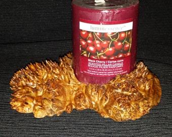 Exotic Chechen Burl Cap Pillar Candle Holder #2177  FREE SHIPPING!!!