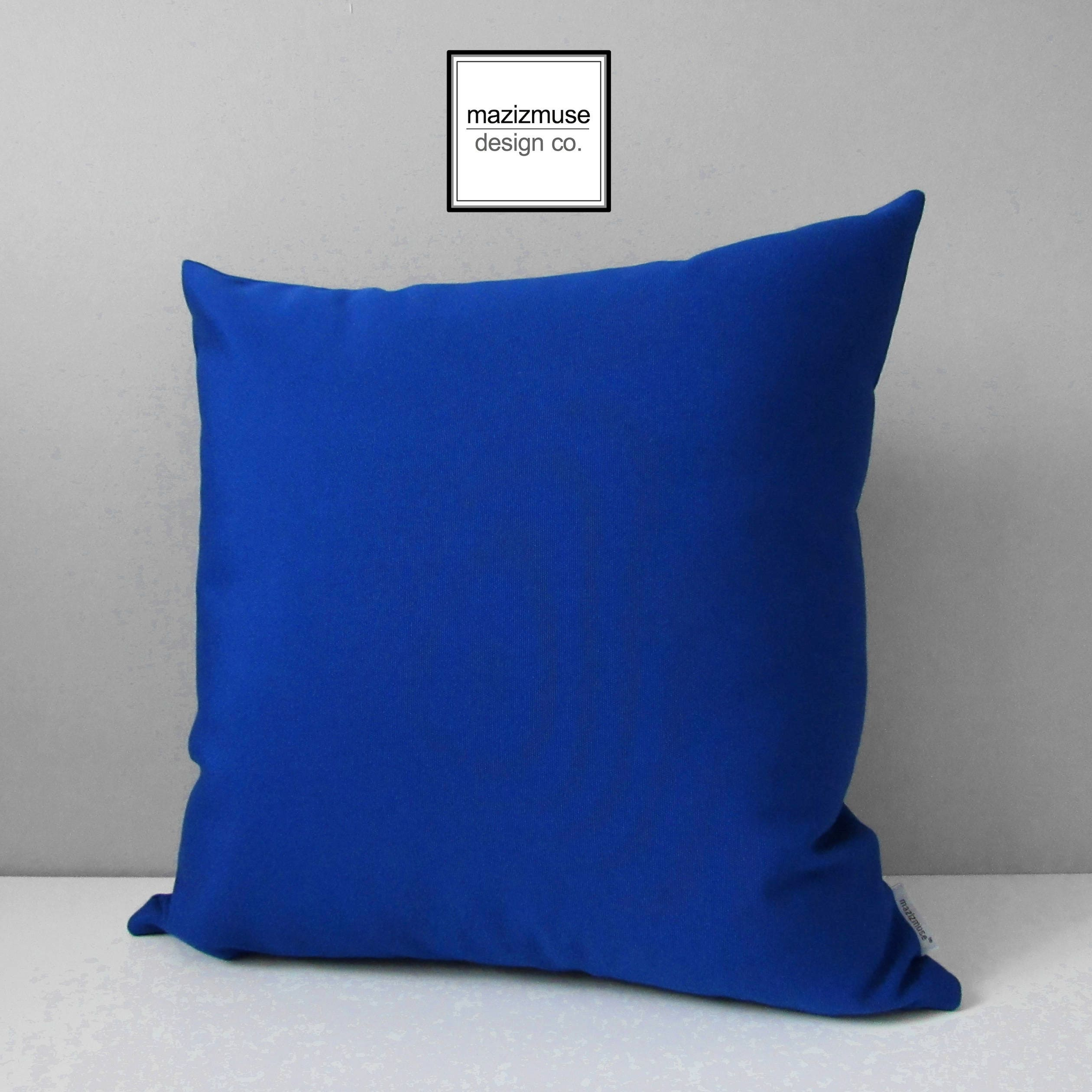 Royal Blue Outdoor Pillow Cover Decorative Sapphire Blue