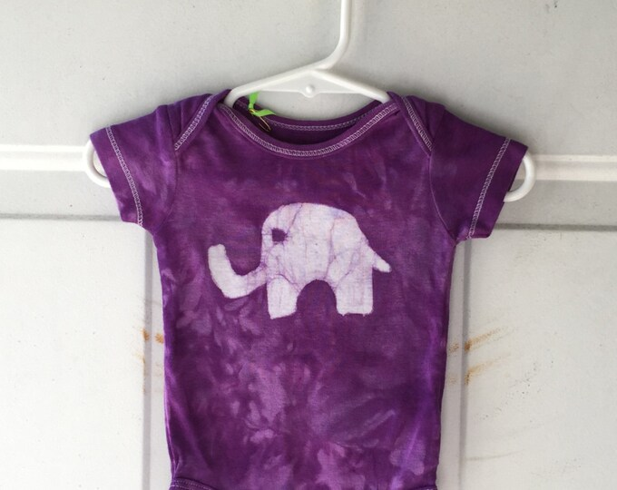 Elephant Baby Gift, Elephant Baby Bodysuit, Purple Elephant Bodysuit, Purple Baby Gift, Baby Shower Gift, Gender Neutral Baby (3 months)