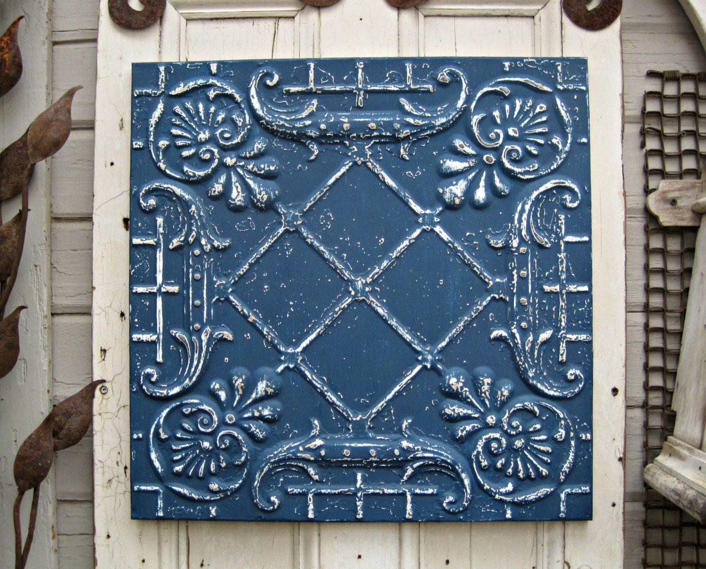 Antique Tin Ceiling Tile Framed 2x2 Antique Metal Tile