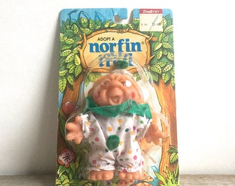 Vintage Norfin Troll Clown In Blister Pack New 1980's