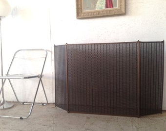 Vintage Fireplace Screen Cover Mission Arts & Crafts Mid Century Modern Fireplace Screen