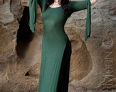NEW Plus Size Available: The Forest Green Panel Dress by Opal MoonDesigns (Sizes XS- 3XL)