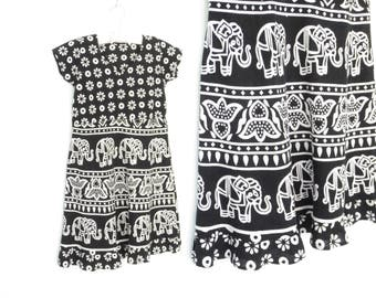 Vintage Mini Dress * Indian Cotton Dress * Babydoll Dress * Festival Dress * Small - Medium