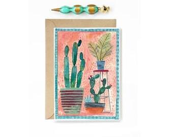 Cactus Pots Card