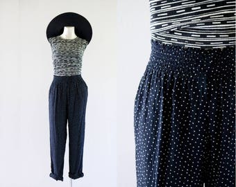 high waist crinkle trousers / 8