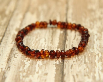 Baltic Amber Bracelet, natural pain relief, polished baltic amber jewelry, beaded bracelet
