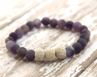 Essential Oil Diffusing Bracelet, amethyst, gemstone jewelry, natural healing, aromatherapy jewelry, beaded bracelet