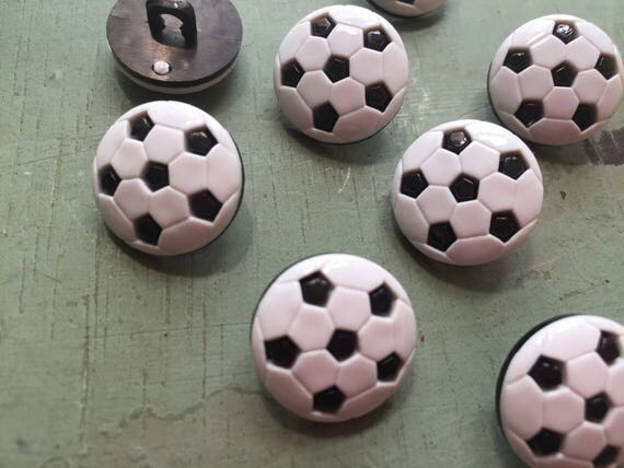 Soccer Ball Buttons, Packaged Novelty Buttons Style #4069 by Buttons Galore, Shank Back Buttons, Embellishments, Sewing, Crafting