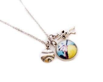 Baseball Jewelry / Personalized Photo Necklace / Photo Pendant / Photo Jewelry / Photo Necklace / Baseball Mom Jewelry / Baseball Photo