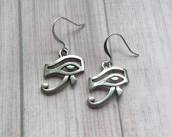 Eye of Ra Egyptian Earrings, Eye of Horus Udjat Symbol