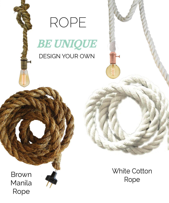 Rope Pendant Light Modern Industrial Chandelier Rustic