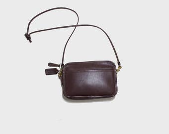 Vintage Coach Bag / Mini Coach Bag / Coach Carnival Bag / Brown Leather Coach Purse / Mini Leather Purse / Coach Crossbody Purse