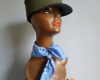 """Vintage FALCON """"Jump Up"""" CAP 60s Army Green"""