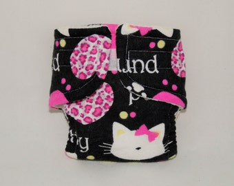 Baby Doll Diaper - Kitty - Size Small