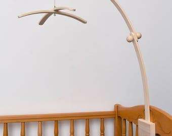 Baby Crib Wooden MAPLE Mobile Arm, Baby Mobile Stand, Nursery Mobile Crib Holder