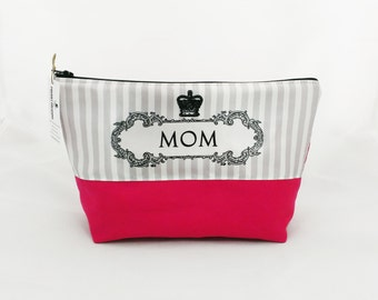 Mom Makeup Bag Dopp Kit Makeup Organizer gift for mom to be mothers day gift for her pregnant mom gift wash bag cosmetic pouch toiletry bag