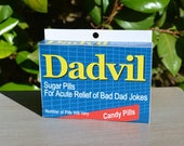 Father's Day Gift: Dadvil! - Download & Print | Dad's Birthday | Dad Jokes | Last Minute Father's Day | Joke Medicine Box | Gift for Dad