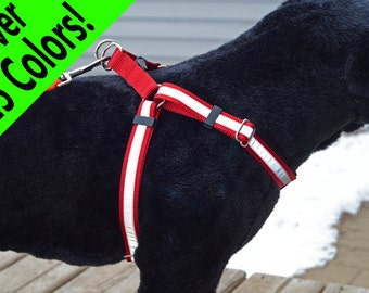 REFLECTIVE Step-In Dog Harness - many colors