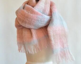 Vintage 1960s huge MOHAIR wool scarf