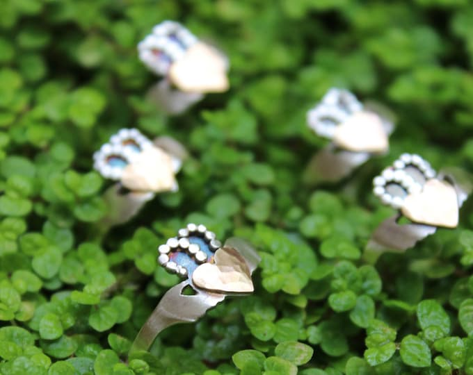 IN STOCK* Handcrafted Modern Claddagh Ring