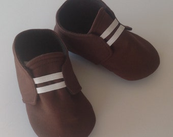 Brown Baby Shoes with Elastic | Newborn size up to 18 Months