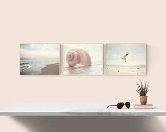 Coastal prints, set of 3 photos, Beach wall art, Nautical wall decor, gallery wall set, Coastal photography, Nautical art, set of 3 prints