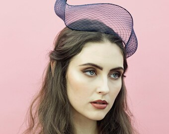 The Galatea Fascinator Headband, Crin Headpiece, Racing Fashion