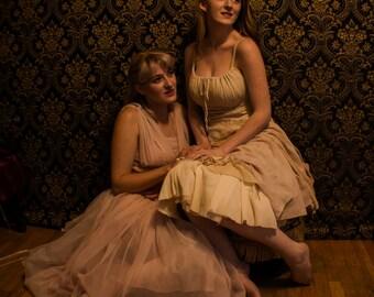 Romantic Tea Dipped Linen Dress