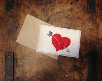 Embroidery Valentines Day card