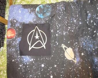 Star Trek Patch, Starfleet Insignia, Gold on Black, Communicator, Yellow, Enterprise, TNG, nerd,  punk patches, uniform, geek, sci fi, space